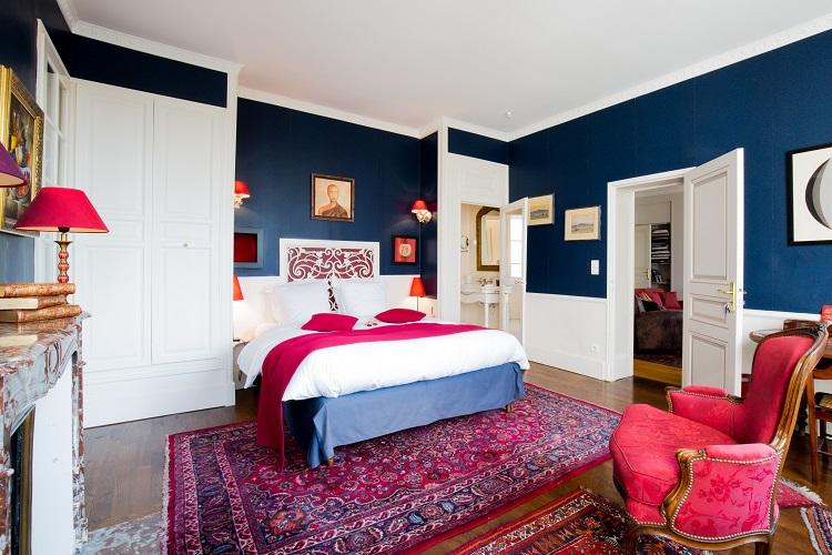 Blaue Zimmer (Chambre Bleue) - Le Prieuré Saint Agnan